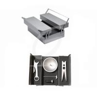 Wein- Metallbox im Werkzeugkasten Design mit Weinzubehör
